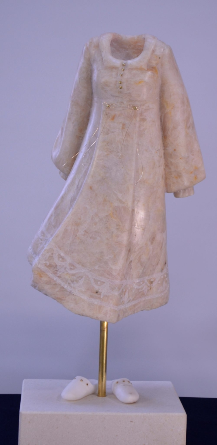 Woman with Nightie and Slippers