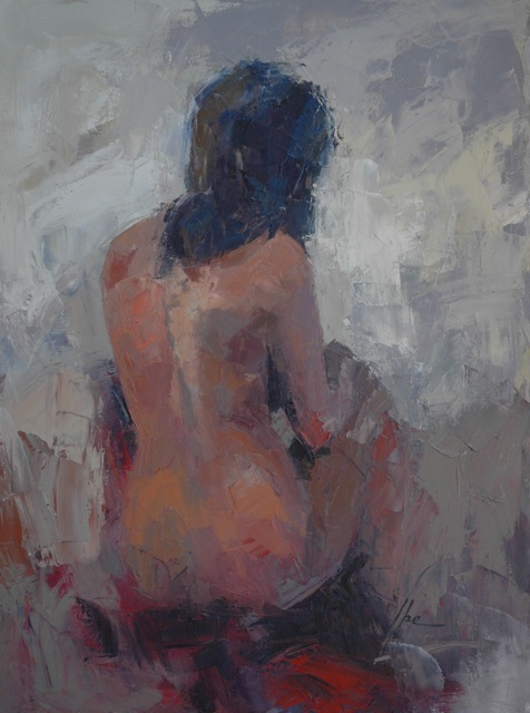 IBEON062SeatedNude40x30