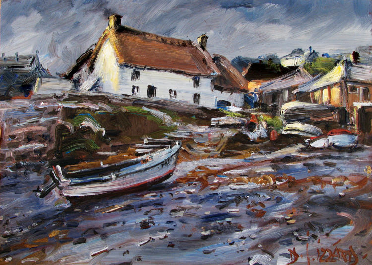 IZZ 192 After the Rain, Cadwith Cornwall 10x14.jpg