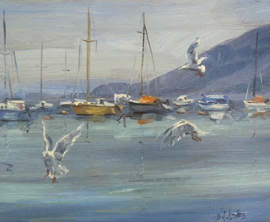 IZZ 296 Seagulls at Whytecliff 10x12.jpg