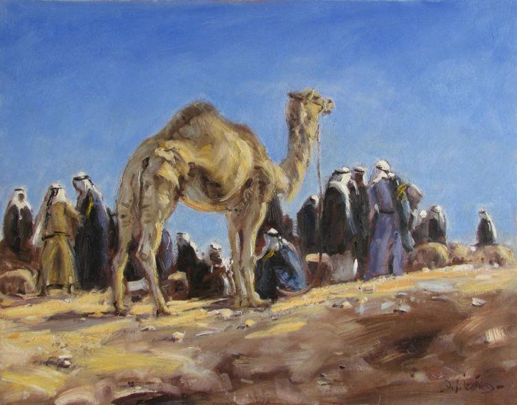 IZZ 326 6AM, Desert Camel Market 16x20.jpg