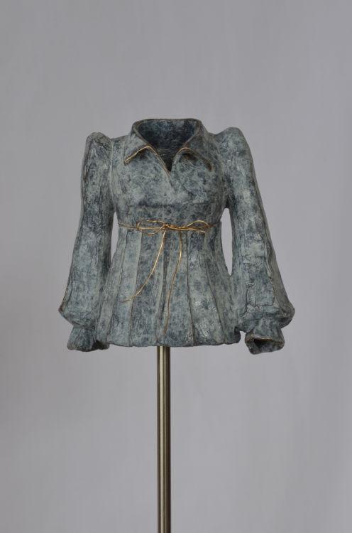 BEL femme à la blouse blanche no1 Bronze 23x8x8cm