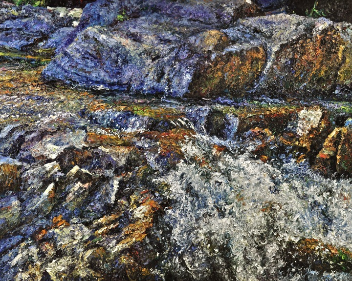 TOM 217 River On the Rocks 48x60