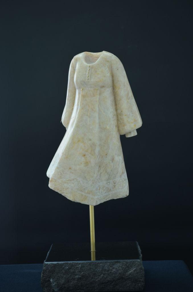 BEL 053 Woman with Nightie limestone 17x7x6.5