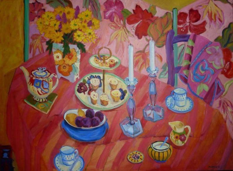 PAV 022 Silver candlesticks & cupcakes 36x48