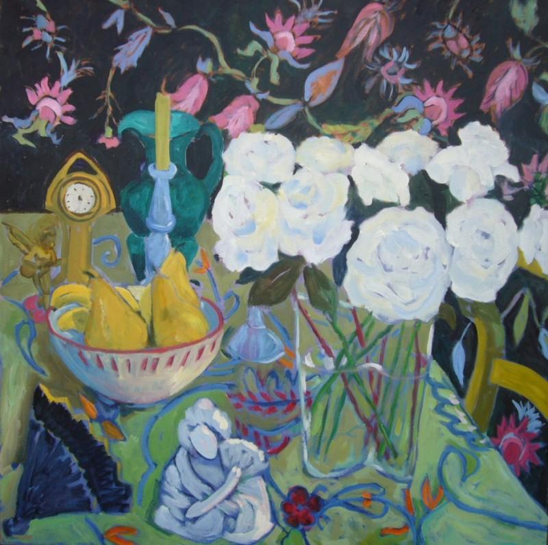 PAV 028 White Roses 36x36