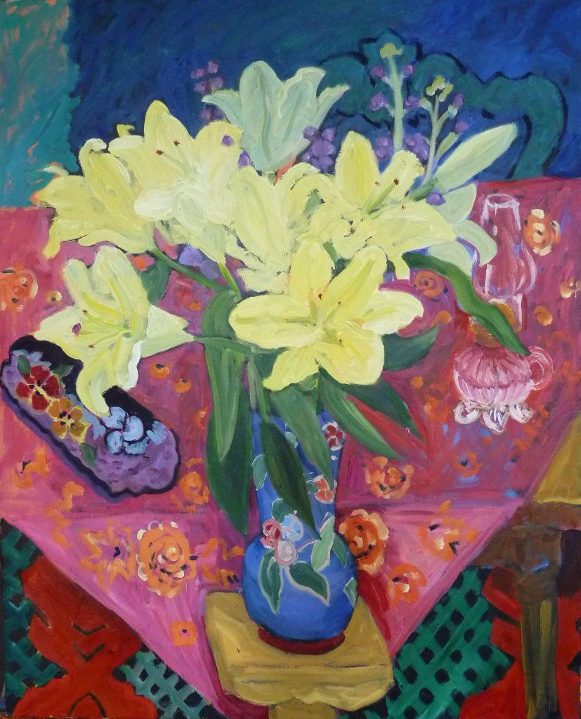 PAV 037  Yellow Lillies II 20 x 30