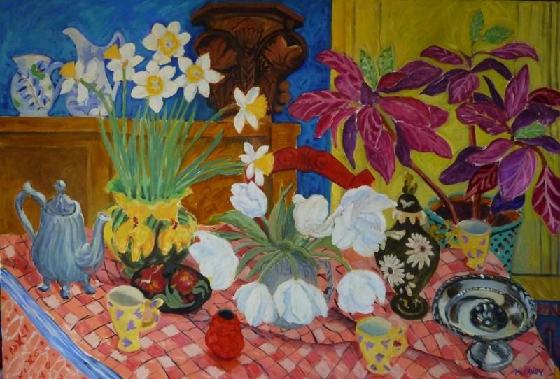 PAV 038  Interior with Checkered tablecloth 38x56
