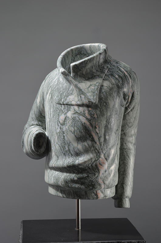 BEL 0057 Homme au tricot no2 ( Man with sweater no.2 )marbre, (marble)50x23x17cm (19x10.5x7 inch)