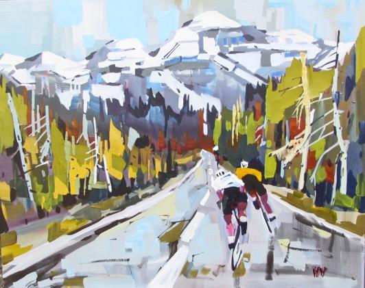 BON 105 Cycling Through the Pass 24 x 30