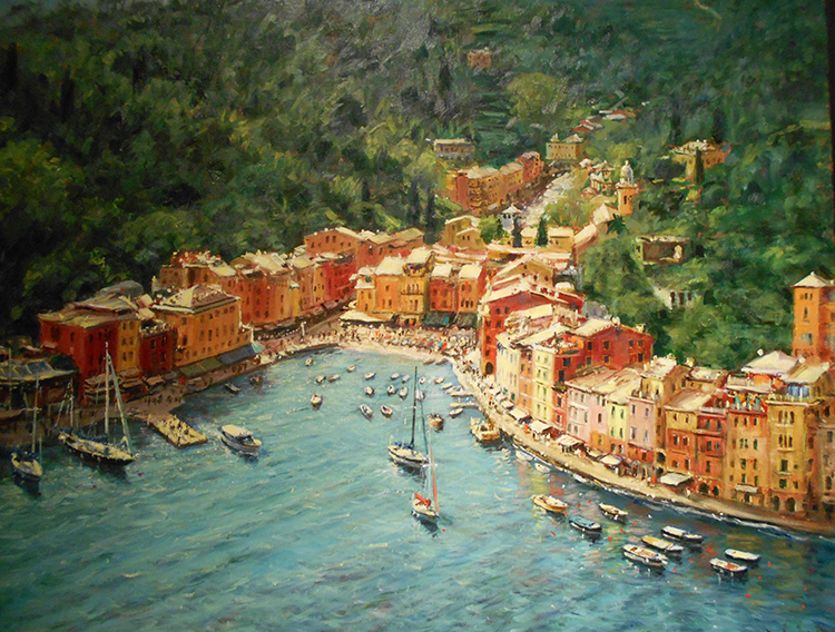 IZZ 340 Later That Day, Portofino, Italy 24 x 30 (1)