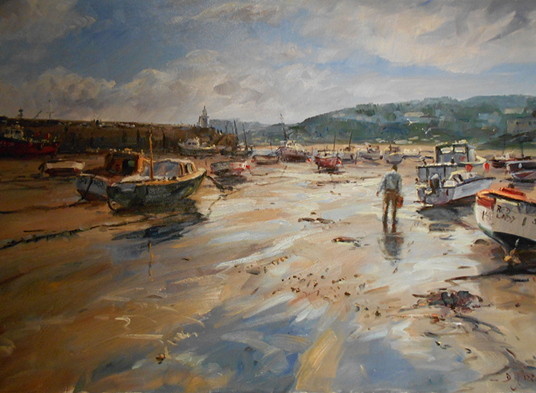 IZZ 342 Low Water, St. Ives, Cornwall, England 24 x 36