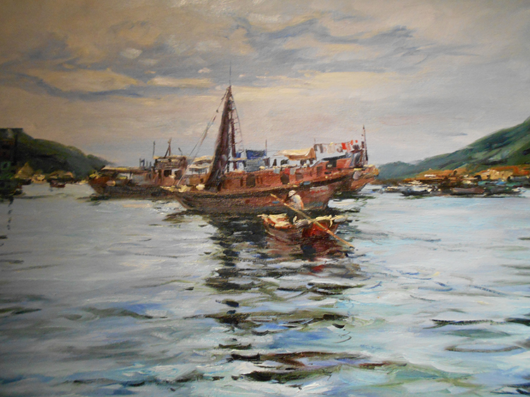 IZZ 345 The Anchorage, Aberdeen, Hong Kong 24 x 30