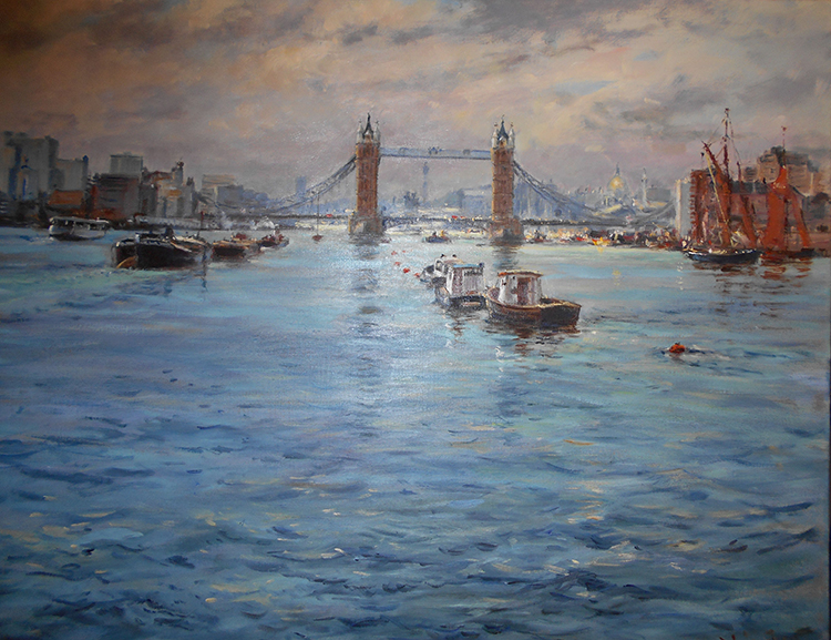 IZZ 346 The Thames & Tower Bridge, London 24 x 30
