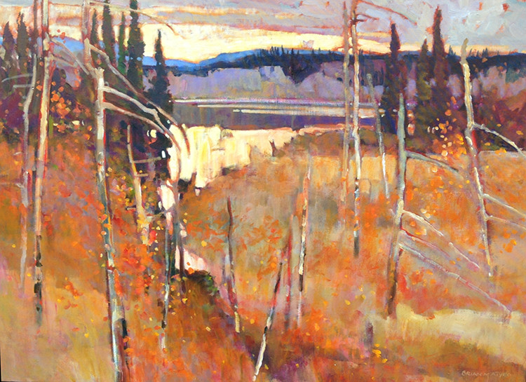 ATY 1038 Into Evening 36 x 48